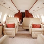 inside private jet